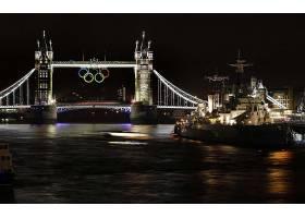 塔,桥梁,桥梁,奥林匹克运动会,奥林匹克的,比赛,夜晚,灯光,图片