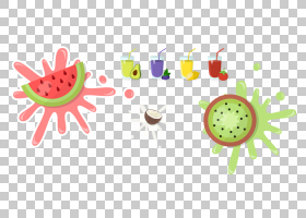 夏花背景,甜瓜,西瓜,食物,花,叉子,水果,绘图,卡通,夏天,西瓜,