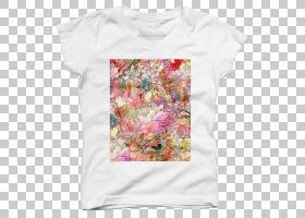 夏花背景,服装,T恤,顶部,外衣,粉红色,质量,粉红色M,套筒,扔枕头,