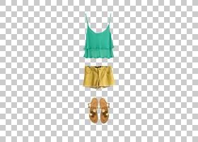 绿色背景,绿色,黄色,T恤,漂浮材料,时尚,着装,外衣,服装,T恤,