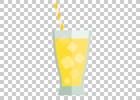 夏季冰,饮具,餐具,黄色,杯子,玻璃,冰块,喝酒,柠檬,喝吸管,夏天,