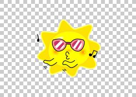 夏季绘画,眼镜,微笑,表情,笑脸,黄色,眼镜,动画,夏天,绘图,卡通,
