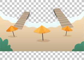 夏海,木材,海,卡通,夏天,海滩,