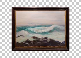 波浪抽象背景,矩形,波浪,海,木材,海洋,天空,相框,油,拼贴,美术,