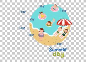 夏蓝背景,线路,面积,文本,卡通,海滨度假村,夏天,海滩,绘图,