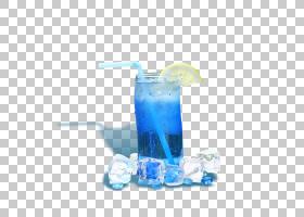 夏蓝背景,鸡尾酒装饰,蓝泻湖,Hpnotiq,鸡尾酒,非酒精饮料,夏天,冰