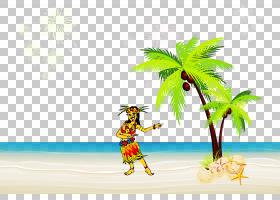 棕榈树,旅游,旅行,动画,天空,有趣,植物,木本植物,卡通,夏天,椰子