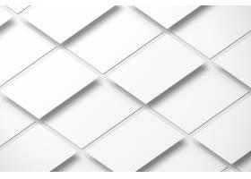 纯白平铺的名片LOGO展示样机