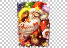 老夫子-圣诞老人王者荣耀游戏角色皮肤原画图片