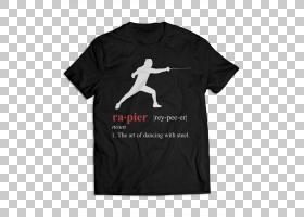 T恤T恤,颈部,活性衬衫,徽标,外衣,顶部,黑色,白色,T恤,长袖T恤,无