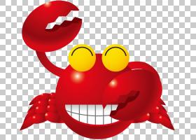 圣诞节微笑,红色,微笑,笑脸,表情,陆生蟹,圣诞岛红蟹,绘图,仓热卓