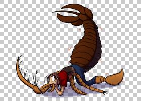 螃蟹动画,卡通,爪子,螃蟹,龙虾,昆虫,十足,密翅目鱼(Mixopterus),