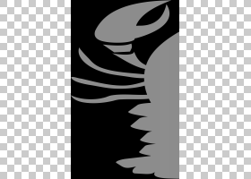圣诞节黑白,机翼,黑白,小龙虾,水彩画,线条艺术,刺龙虾,绘图,剪贴