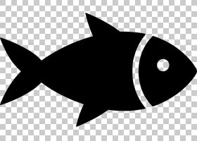 钓鱼卡通,剪影,线路,黑白,黑色,咸水鱼,钓鱼,贝类,龙虾,贻贝,食物
