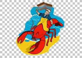 钓鱼卡通,海鲜,美国龙虾,渔民,钓鱼,Palinurus,龙虾陷阱,捕龙虾,