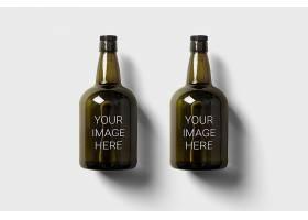 饮料酒水玻璃瓶LOGO展示样机