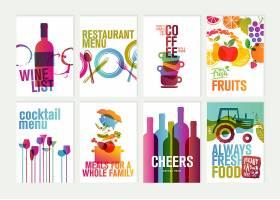 个性颜色炫酷的装饰标签插画设计