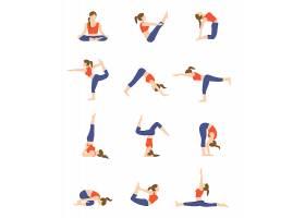 练瑜伽的卡通美女