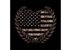 国旗酷炫创意印花矢量图案素材