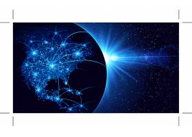 蓝色科技星球