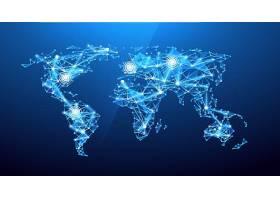蓝色地图背景