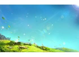 蓝天草地插图