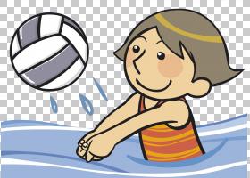 排球卡通,男性,鼻子,男孩,线路,孩子,关节,手,材质,球,微笑,手指,