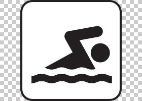 黑线背景,黑白,线路,徽标,黑色,点,符号,面积,剪影,体育,游泳池,