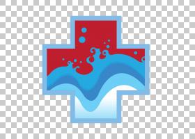 红十字会背景,电蓝,符号,徽标,线路,面积,文本,蓝色,游泳池,自动