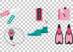 游泳卡通,鞋,技术,洋红色,手指,手,文本,粉红色,浮潜,体育,水下潜