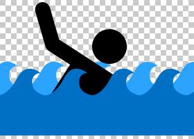游泳卡通,线路,徽标,文本,蓝色,游泳,游泳池,绘图,溺水,