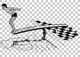 游泳卡通,绘图,体育器材,武器,关节,黑白,卡通,线路,冷兵器,手,黑