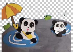 游泳卡通,播放,填充玩具,功夫熊猫,游泳,创造性工作,野生动物,国