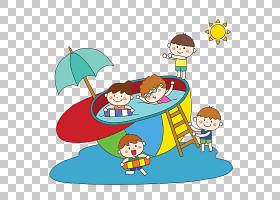 儿童卡通,线路,面积,娱乐,播放,孩子,游泳,计算机图形学,