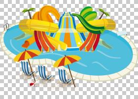 公园卡通,线路,面积,特内里费,科斯塔阿德耶,游泳池,水滑道,游乐