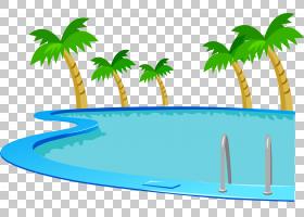 棕榈树绘图,草,线路,绿色,棕榈树,水,水,槟榔,树,面积,植物,动画,