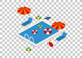 夏季游泳,播放,面积,线路,夏天,三维空间,酒店,游泳池,等距投影,3