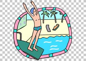 游泳卡通,幸福,线路,圆,娱乐,面积,播放,洗澡,Windows图元文件,波