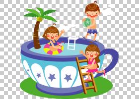 夏季游泳,食物,面积,娱乐,播放,季节,男孩,泳衣,游泳,游泳池,夏天
