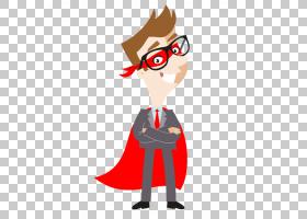 超级英雄卡通,红色,机翼,线路,鼻子,服务,超级英雄,卡通,商人,销