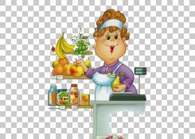 劳动节卡通人物,烹饪,食物,卡通,买家,孩子,劳动,女人,肠,销售人