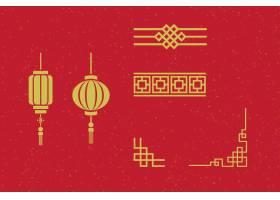 中式复古边框灯笼
