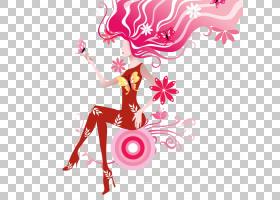 女发,洋红色,粉红色,卡佩利,免费,头发,时尚,女性,女人,图片