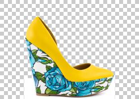 宫廷鞋,户外鞋,基本泵,高跟鞋,水,鞋类,踝关节,Espadrille,黄色,