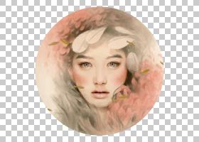 水彩画,脸,脸颊,头部,铅笔,亚洲艺术,彩色铅笔,肖像,艺术家,绘图,