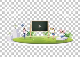 绿草背景,家具,草,表,黑板,绿色,卡通,