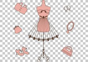 购物卡通,线路,服装设计,时装设计,日装,桃子,颈部,舞衣,粉红色,