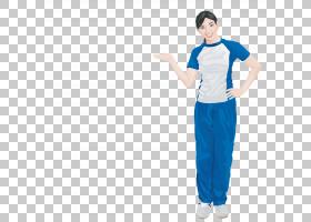 卡通蓝,服装,肩部,关节,统一,材质,套筒,外衣,电蓝,站立,蓝色,像