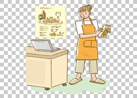 女卡通,卡通,表,烹饪,关节,职业,沟通,站立,女人,绘图,