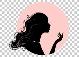 女卡通,微笑,鼻子,颈部,发型,绘图,肖像,女性,剪影,女人,